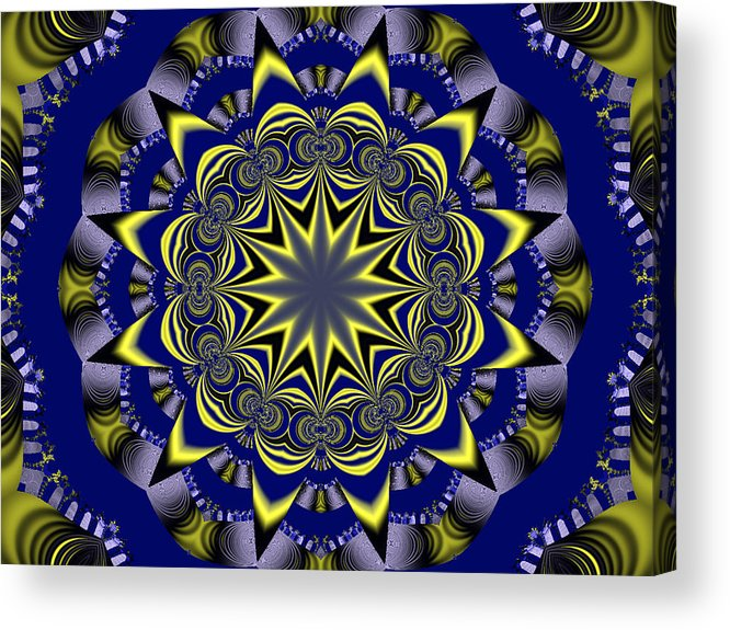 Fractal Poster Acrylic Print featuring the digital art Digital Fractal Poster by David Smith