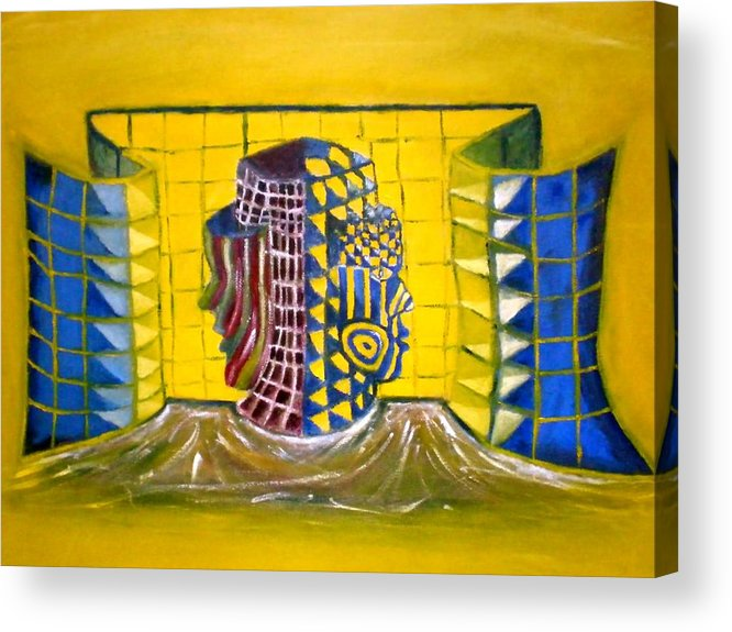 Diversity Acrylic Print featuring the painting Diversity by Philip Okoro