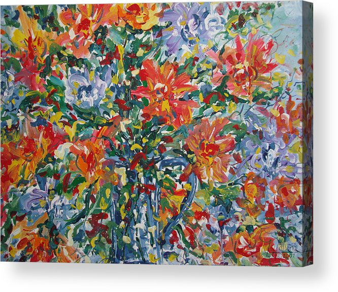Painting Acrylic Print featuring the painting Divine Happiness. by Leonard Holland