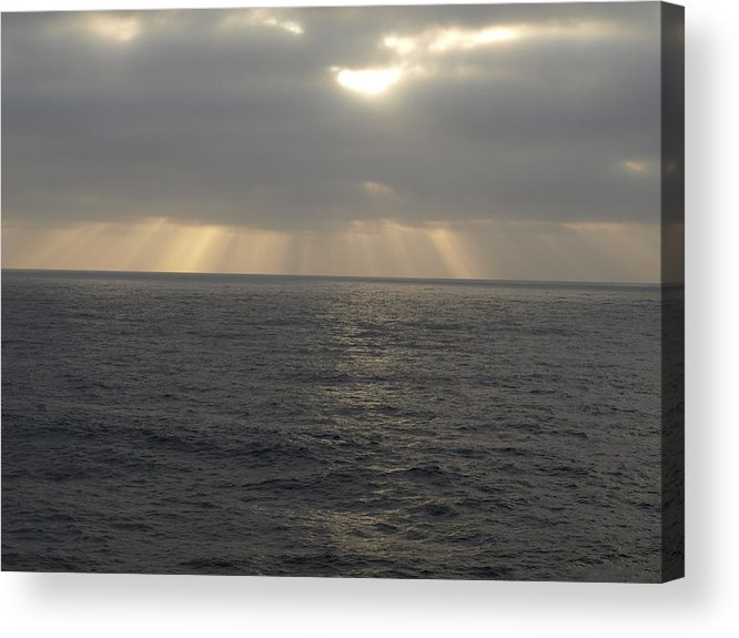 Clouds Acrylic Print featuring the photograph Divine Light by Laura Allenby