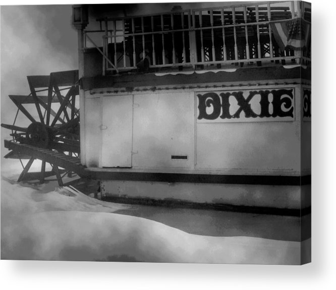 Fine Art Photograph Acrylic Print featuring the photograph Dixie Boat Blizzard by Michael L Kimble