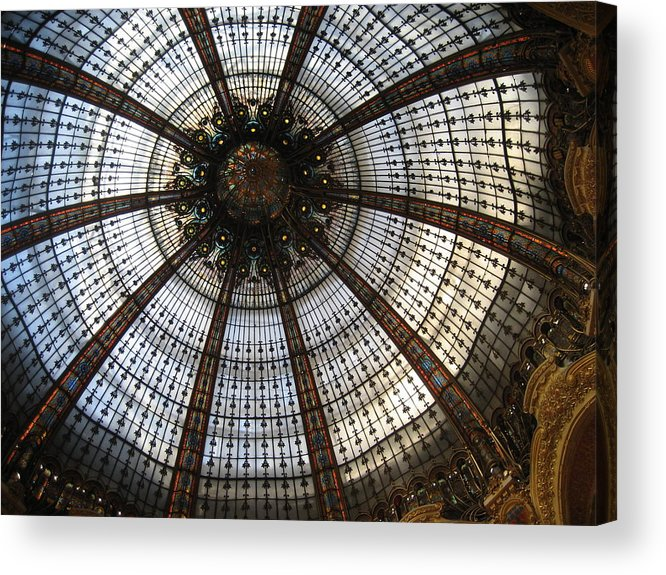 Paris Acrylic Print featuring the photograph Dome Of The Galleries Lafayette by Victoria Heryet