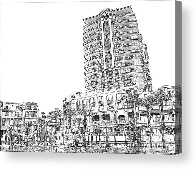 Drawing Acrylic Print featuring the photograph Drawing The Building by Michelle Powell