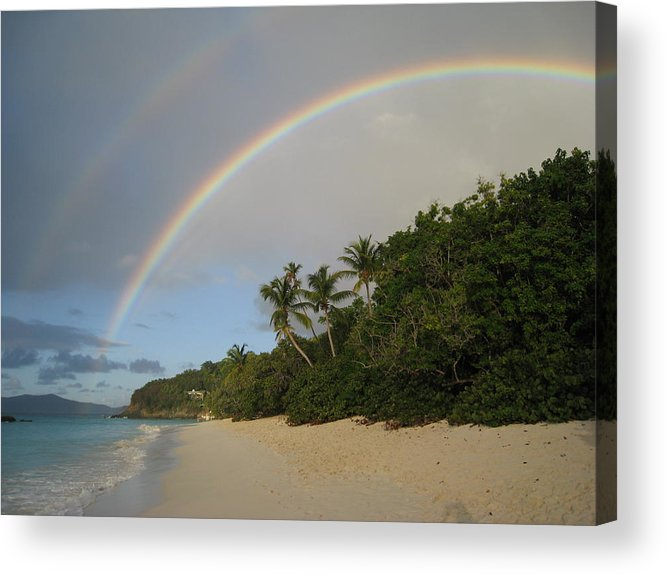 Rainbow Acrylic Print featuring the photograph Dreams Really Do Come True by Ginger Howland