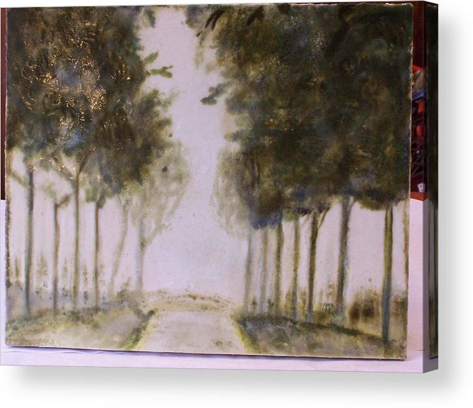 Landscape Acrylic Print featuring the painting Dreamy Walk by Karla Phlypo-Price