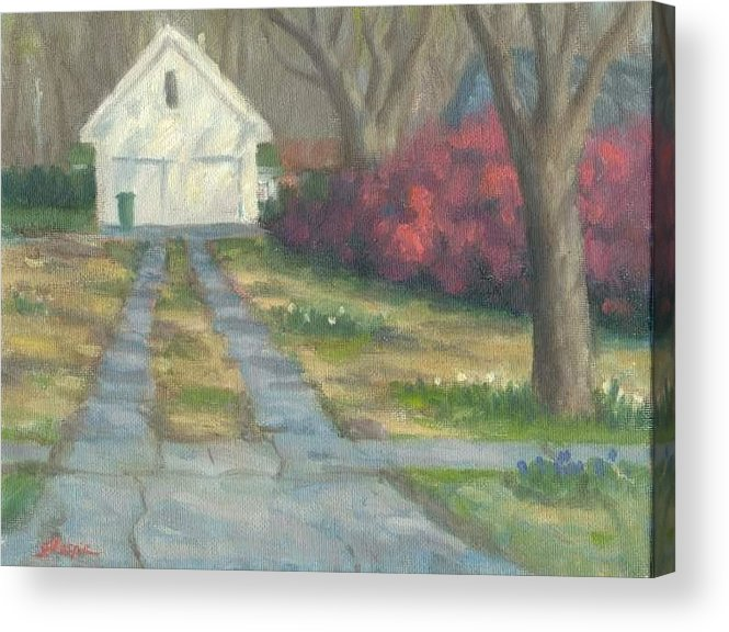 Landscape Acrylic Print featuring the painting Driveway by Michael Gillespie