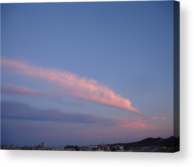 Landscape Acrylic Print featuring the painting Dusk by Roger Cummiskey