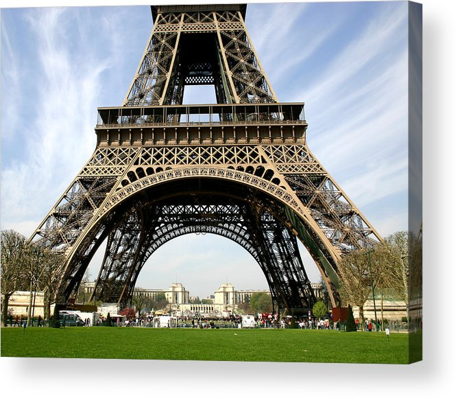 Paris Acrylic Print featuring the photograph Eiffel Tower by Hans Jankowski