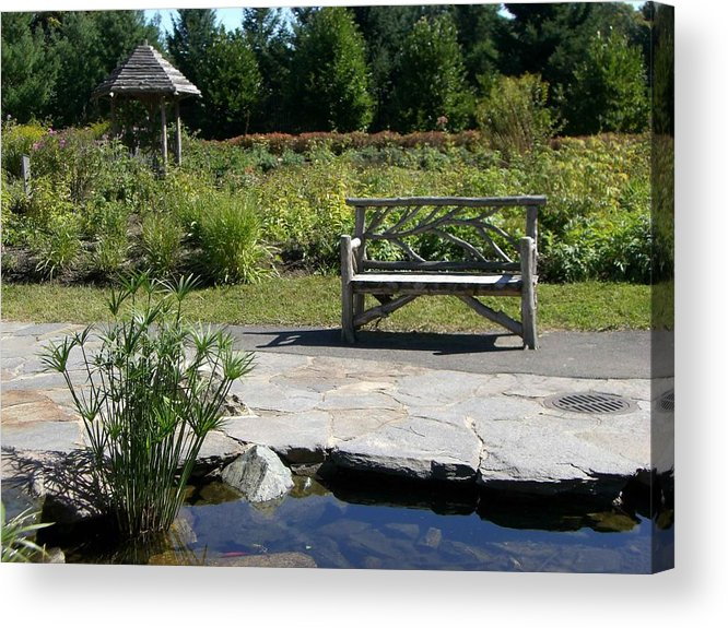 Bench Acrylic Print featuring the photograph Elm Bank - Bench by Nancy Ferrier