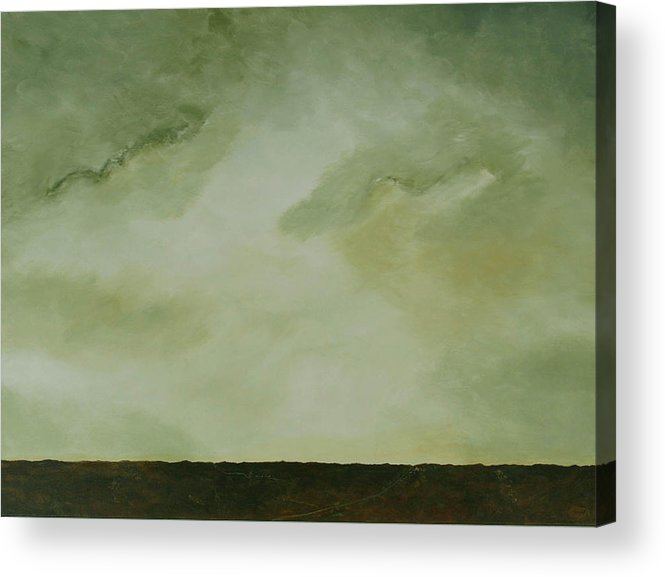 Original Acrylic Skyscape Acrylic Print featuring the painting Emerald by Sharon Steinhaus