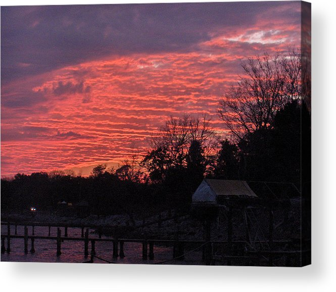 Sunset Acrylic Print featuring the photograph End Of Day by Nicole I Hamilton