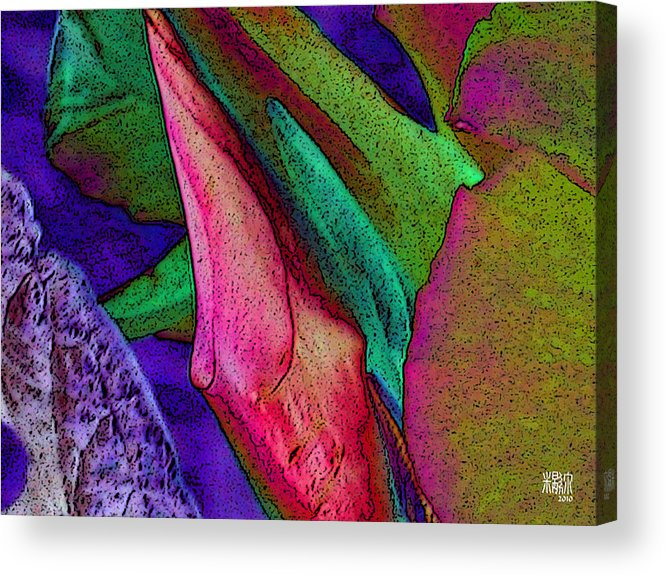 Flowers Acrylic Print featuring the digital art Enduring Change by Michele Caporaso