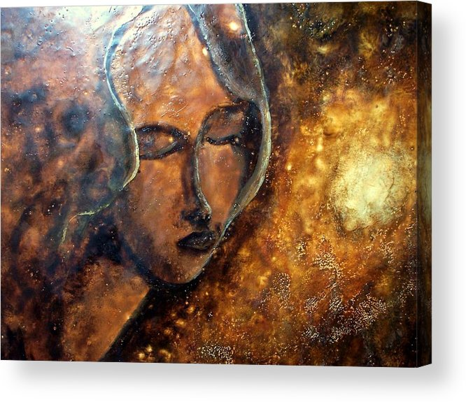 Portrait Acrylic Print featuring the painting Enlightenment by Karla Phlypo-Price