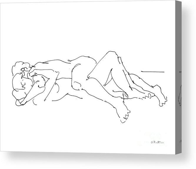 Erotic Lesbian Art 1b Acrylic Print