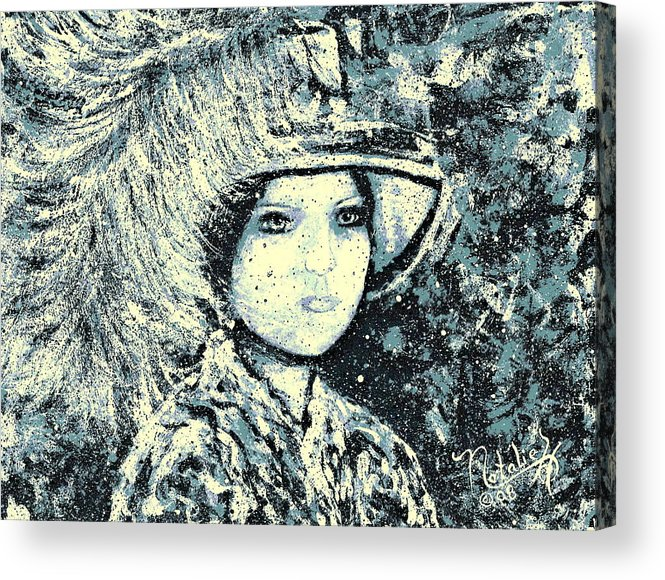 Woman Acrylic Print featuring the painting Evalina by Natalie Holland