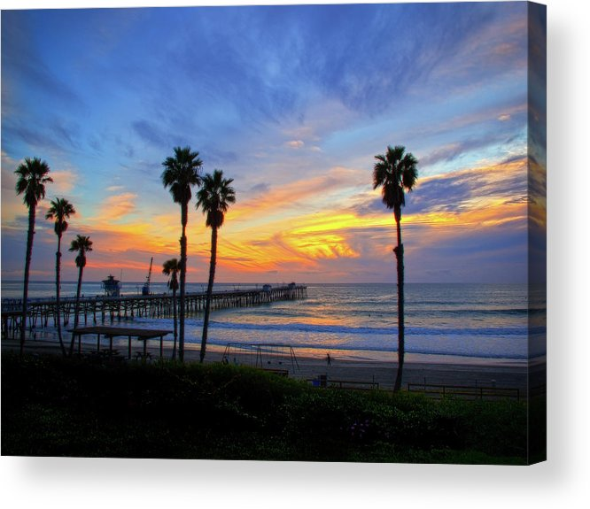 Pacific Ocean Acrylic Print featuring the photograph Evening Light by Carl Jackson