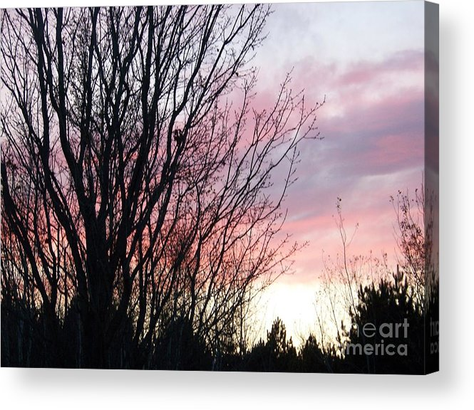 Sky Acrylic Print featuring the photograph Evening Sky - October 27 by Jackie Mueller-Jones