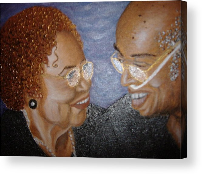 Acrylic Acrylic Print featuring the painting Everlasting Love by Keenya Woods