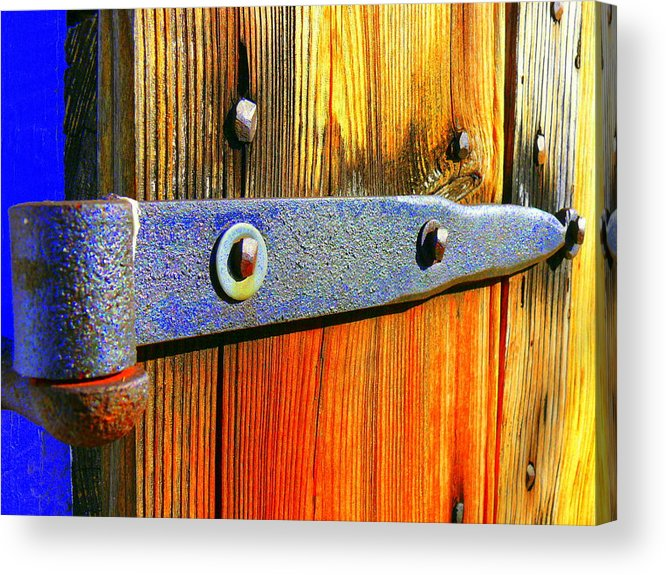 Wood Acrylic Print featuring the photograph Everything Hinges Upon by Kirk Long