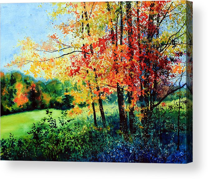 Fall Landscape Art Acrylic Print featuring the painting Fall Color by Hanne Lore Koehler