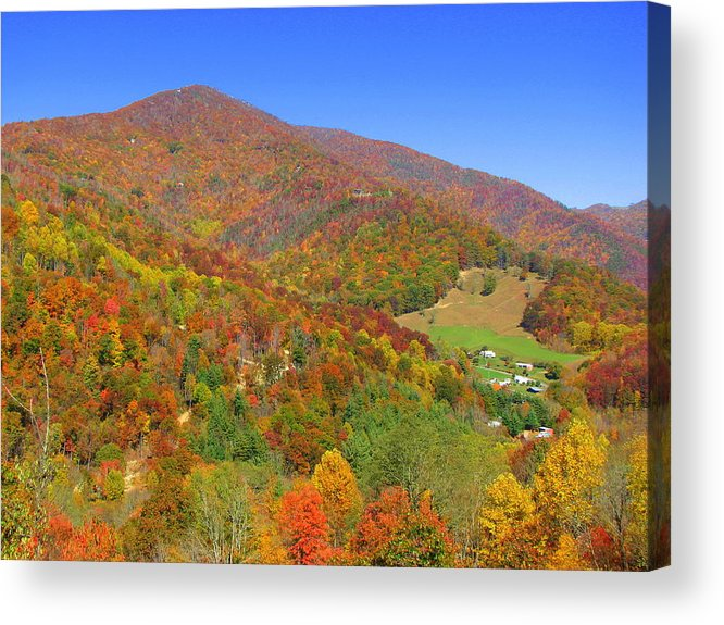 North Carolina Acrylic Print featuring the photograph Fall Mountains by April Camenisch