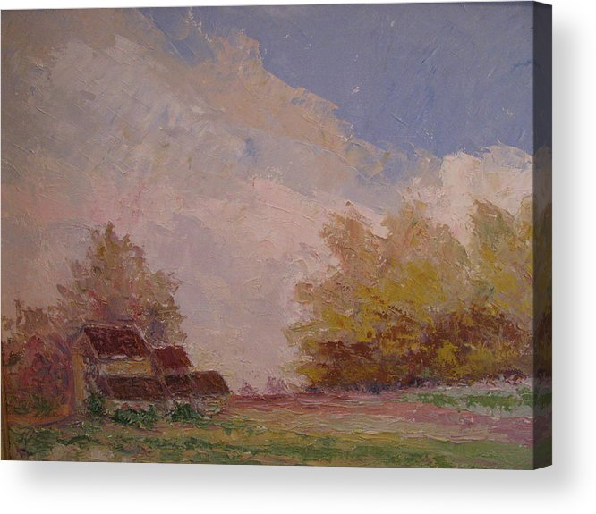 Farm Scene Acrylic Print featuring the painting Farmstead Hunterdon Nj by Belinda Consten