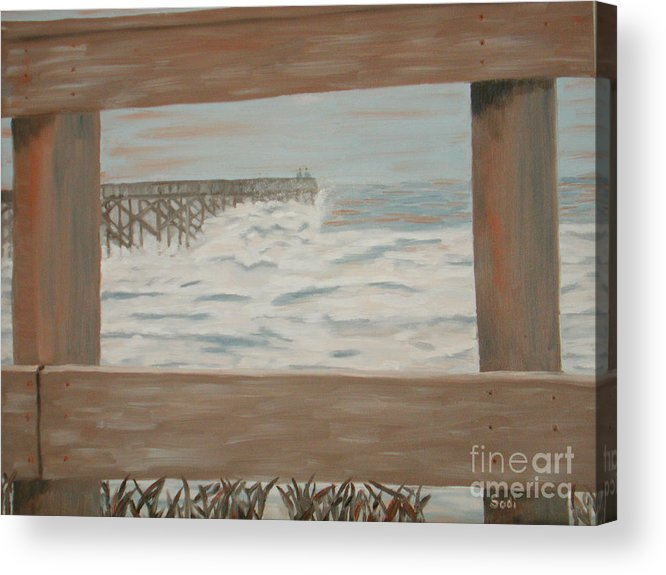 Landscape Acrylic Print featuring the painting Fay Blew by Sodi Griffin