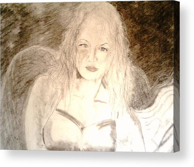 Cantina Acrylic Print featuring the drawing Felina by J Bauer