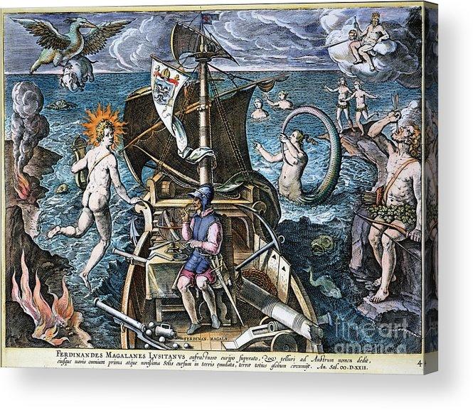 1520 Acrylic Print featuring the photograph Ferdinand Magellan by Granger
