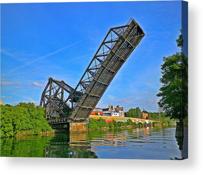 Buffalo Acrylic Print featuring the photograph Ferry St Draw Bridge by William William