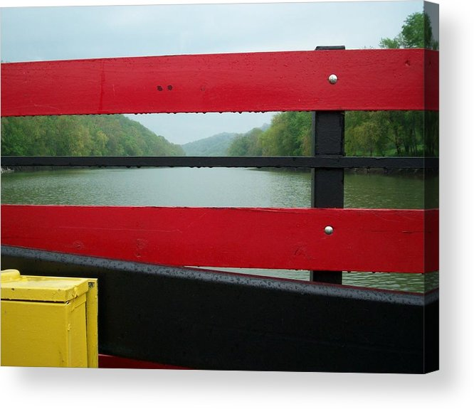 River Acrylic Print featuring the photograph Ferryride by Karen Thompson
