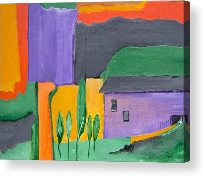 Tuscany Acrylic Print featuring the painting Fiesole Toscana by Michael Puya