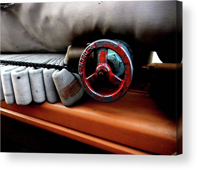 Wheel Acrylic Print featuring the photograph Fire by Adam Hernandez