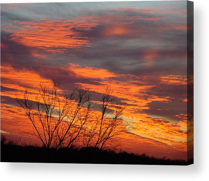 Red Acrylic Print featuring the photograph Fire Sunrise by Ana Villaronga