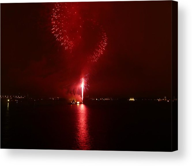 Fireworks Acrylic Print featuring the photograph Fireworks 26 by Kendall Eutemey