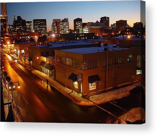 Night Acrylic Print featuring the photograph First Street by Eric Workman