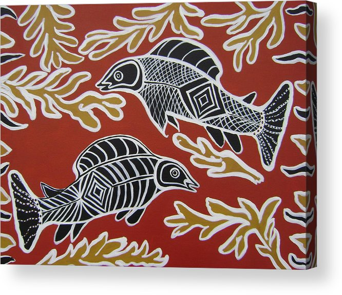 Fish Acrylic Print featuring the painting Fish Dreamin by Laura Johnson