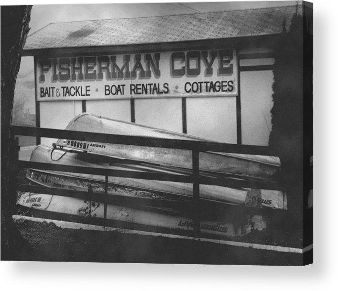 Fine Art Acrylic Print featuring the photograph Fisherman Cove by Michael L Kimble