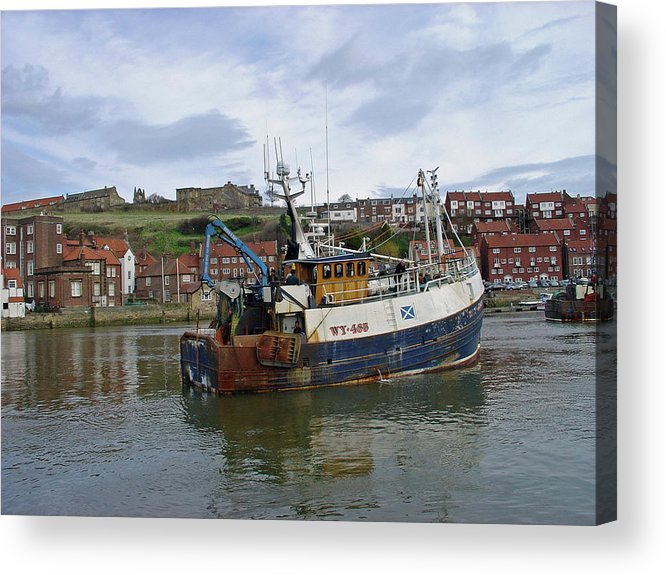Europe Acrylic Print featuring the photograph Fishing Trawler Wy 485 At Whitby by Rod Johnson