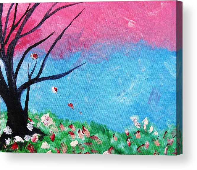 Home Decor Acrylic Print featuring the painting Floral Fragrance by Trilby Cole