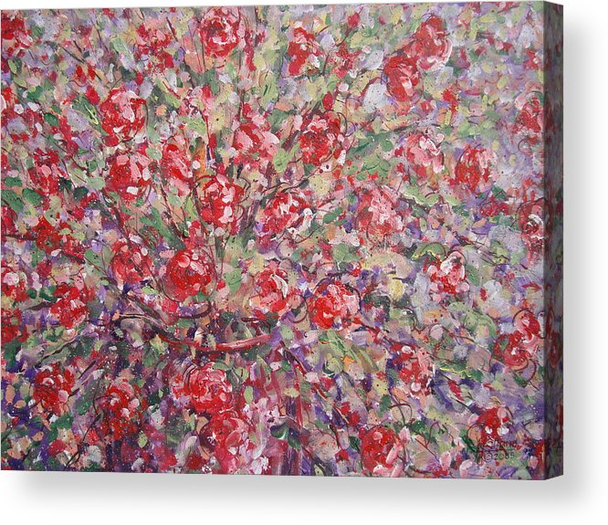 Painting Acrylic Print featuring the painting Flower Feelings. by Leonard Holland