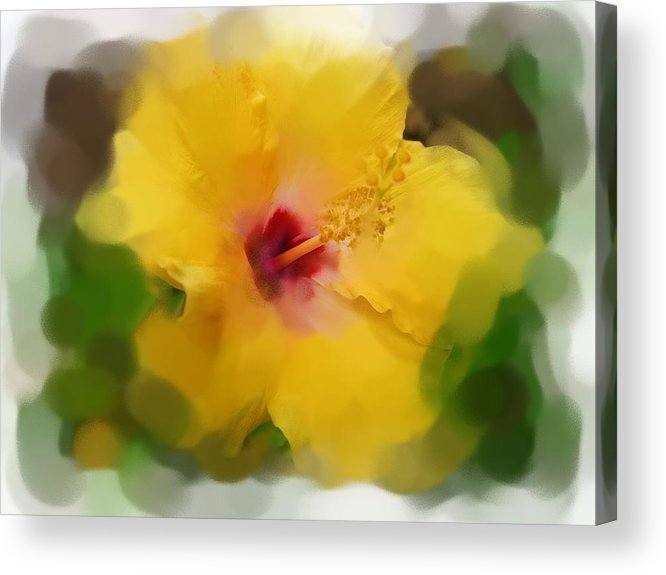 Flower Acrylic Print featuring the painting Flower For You by Jonathan Galente