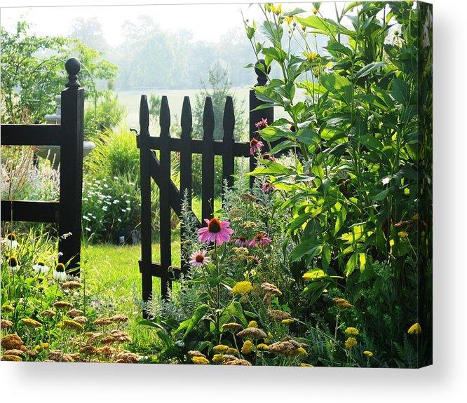 Gates Acrylic Print featuring the photograph Flower Gate by Joyce Kimble Smith