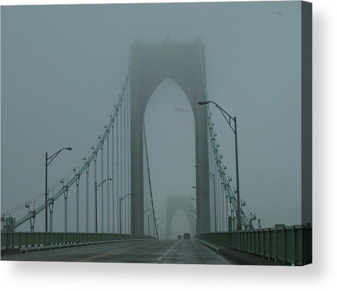 Newport Acrylic Print featuring the photograph Foggy Day by Jeff Porter