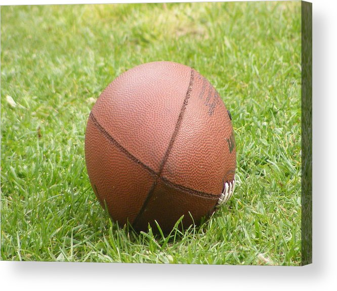 Grass Acrylic Print featuring the photograph Football by Michelle Hoffmann