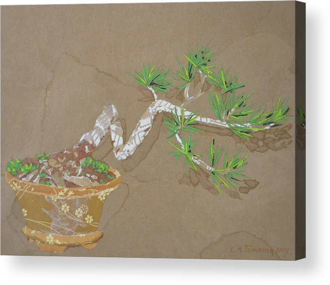 Banzai Tree Acrylic Print featuring the painting For Inge by Leah Tomaino