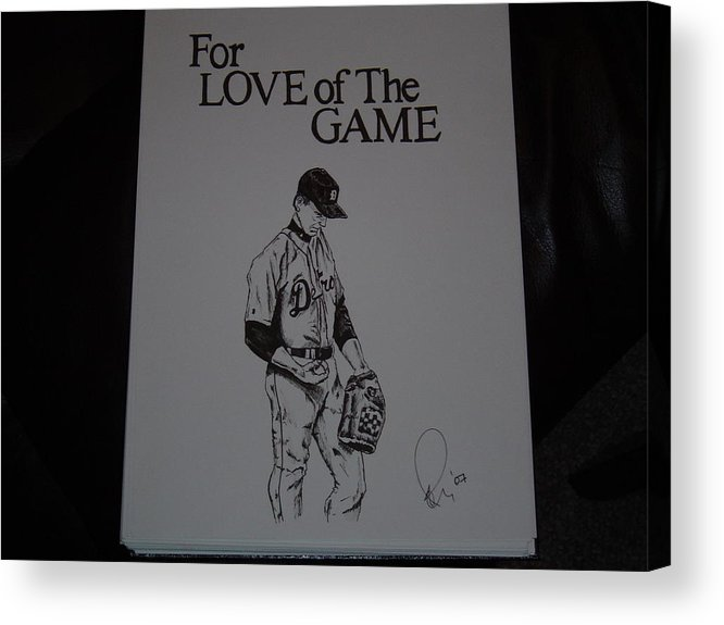Ink Acrylic Print featuring the drawing For Love Of The Game by Raymond Nash