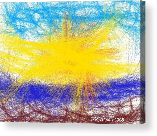 Air.fire.water.ground(earth).meeeting.help. Opposition.in The Same Time Acrylic Print featuring the digital art Four Elements by Dr Loifer Vladimir