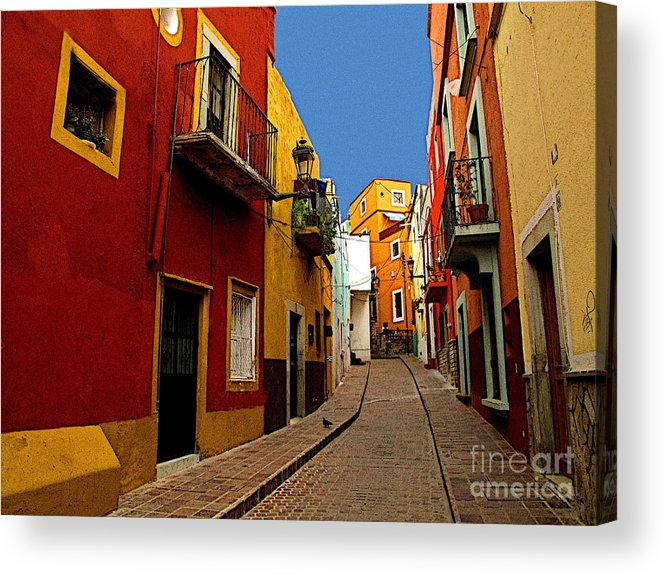 Darian Day Acrylic Print featuring the photograph Francesca's Street by Mexicolors Art Photography