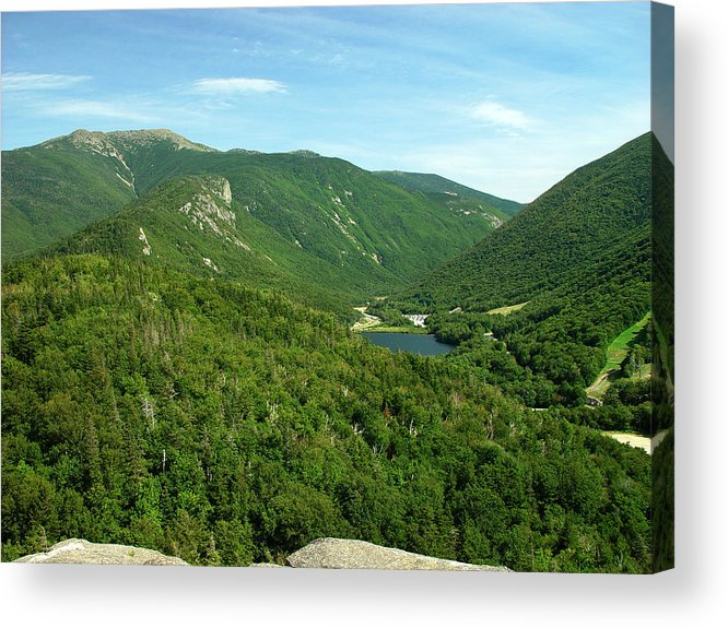 Nature Acrylic Print featuring the photograph Franconia Notch by Eric Workman
